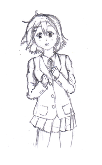 Fanart Yui (K-ON!) WIP